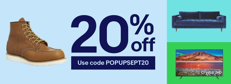 Use code POPUPSEPT20 - Get 20% off autumn faves with this coupon