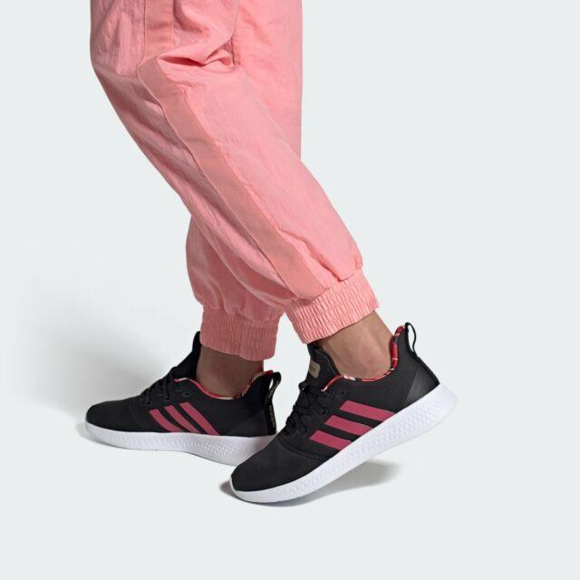 Size 9 - adidas Puremotion Black Power Pink