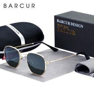 BARCUR-Classic-Retro-Reflective-Sunglasses-Man-Hexagon-Sunglasses-Metal-Frame