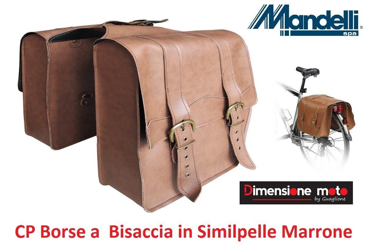 0215 - CP Borse a Bisaccia in in in Similpelle Marronee per Bici 20-24-26-28 Trekking | Nuovo design  | Ammenda Di Lavorazione  d22ca5