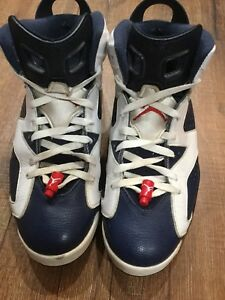 separation shoes f064b c6b3f Image is loading 2012-Air-Jordan-6-Retro-Olympic-White-Midnight-
