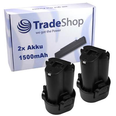 2x Akku 10,8V 1500mAh für Makita DF330DWEX2 DF330DWEX3 DF330DWLX1