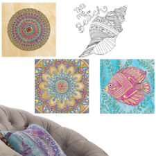 2pk Color-Your-Own Wall Decals Art Coloring Activity Stress Relief Adults Kids