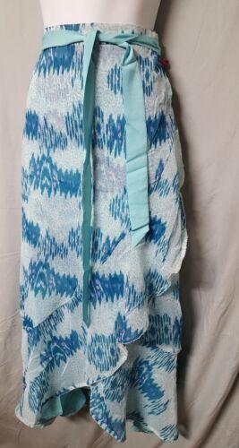 "Badgley Mischka Green SkIrt B3G1 FREE Reversable Maxi  1X Gift  40-44/"" Waist"