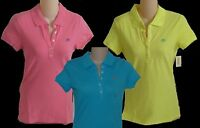 Womens Aeropostale A87 Solid Piqué 5-button Polo Shirt 5621