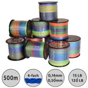 500m-0-05-m-Angelschnur-Multicolor-Rundgeflochten-0-14-0-50mm-Angelhotspot-X