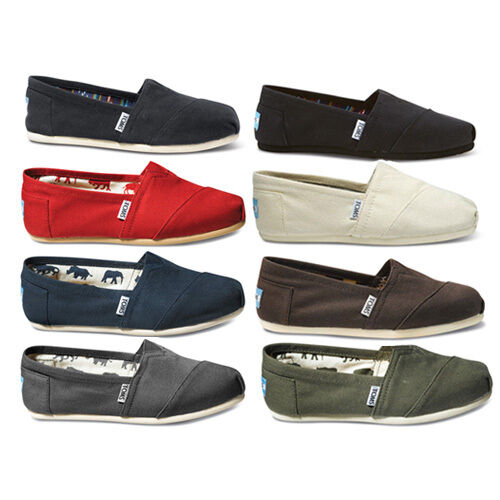 b86cf76f0b4 Authenic Womens Toms Shoes Classics Black Canvas Slip on Flats 8 for sale  online