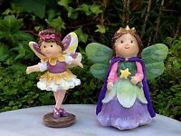 Miniature Dollhouse Fairy Garden Fairytale 2 Princess & Ballerina Figurines