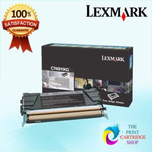 New-amp-Genuine-Lexmark-C746H1KG-Black-Toner-Cartridge-C746-C748