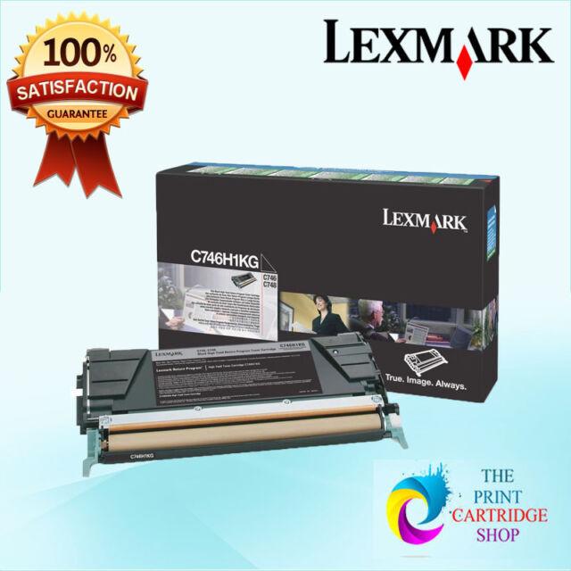 New & Genuine Lexmark C746H1KG Black Toner Cartridge C746 C748