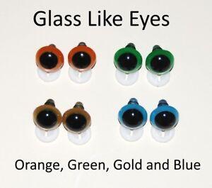 Pair of vintage glass eyes blue soft toys making//repair teddy bears