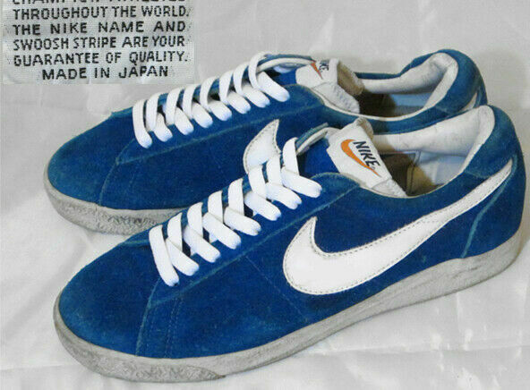 NIKE Blazer Suede Low bluee White Vintage Sneakers Sports shoes size US 7