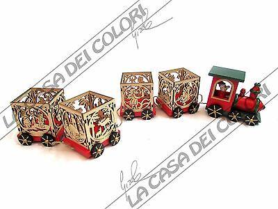 Legler - Trenino Decorativo Portalumini - Cod. 6894 - 61 X 7 X 8,5 Cm