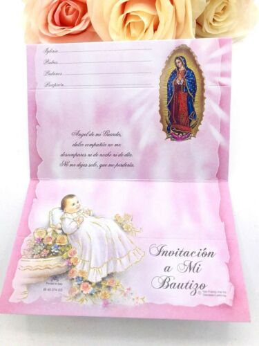 25 Invitaciones De Bautizo Spanish Christening baptism Invitations Party Favor