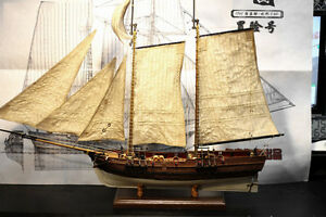 Details about Scale 1/60 Adventure pirate schooner Wood Model Ship Kit 3D  laser cut wood boat
