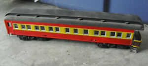 Vintage-HO-Scale-Custom-Painted-Red-Yellow-Passenger-Car-2