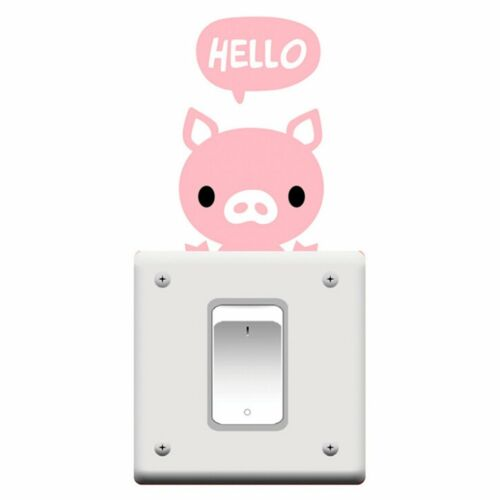 Removable Cute Cartoon Light Switch Funny Wall Decal Vinyl Stickers Home Decor
