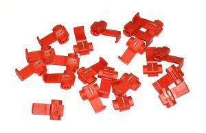 20-x-Stromdieb-Stromabzweiger-Klemmverbinder-0-5-1-5mm-rot