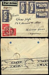 1058-Francia-Posta-aerea-su-busta-da-Parigi-a-Buenos-Aires-Argentina-1935