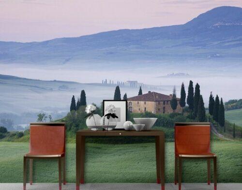 Papier Papier peint papier peint TUSCANY SUNRISE 400x280cm Mur Papier Peint Toscane montagnes