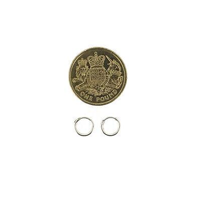 925 Sterling Silver Hoop Sleeper Earrings   8mm - 50mm   Small - Large