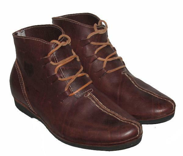 - señora botines/con cordones zapatos-en marrón con Wolf-cabeza-motivo talla 41