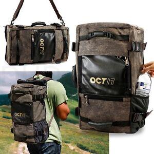 Men S Vintage Canvas Backpack Travel Sport Rucksack Satchel School