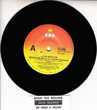 "JULIO IGLESIAS Begin The Beguine (Volver a Empezar) 7"" 45 record + jukebox strip"