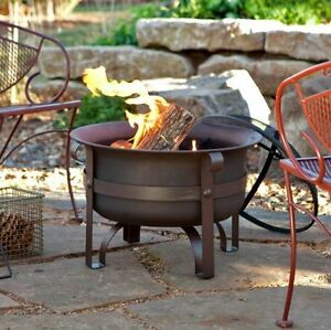 Red Ember 24 Brockton Steel Cauldron Fire Pit With Free