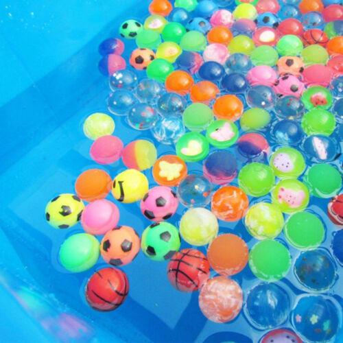 10Pcs 27mm Bouncing Balls Rubber Elastic Jumping Outdoor Favors Kid Toys Funny