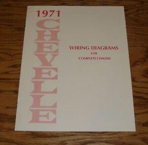 1971       Chevrolet    Chevelle Wiring    Diagram    Manual for    Complete    Chassis 71    Chevy      eBay