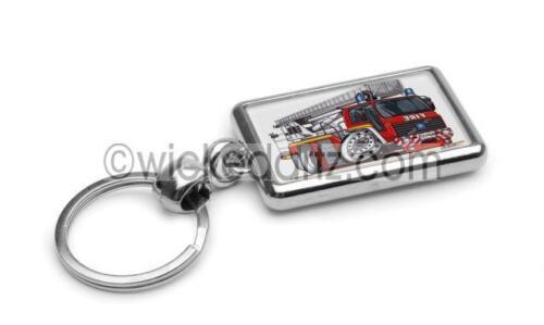RetroArtz Cartoon Volvo Fire Engine /'Simon Snorkel/' Red Premium Metal Key Ring