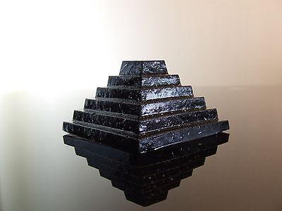 Orgone Step Pyramid of Djoser HHG Quartz Crystal Shungite Pyrite with Shilajit