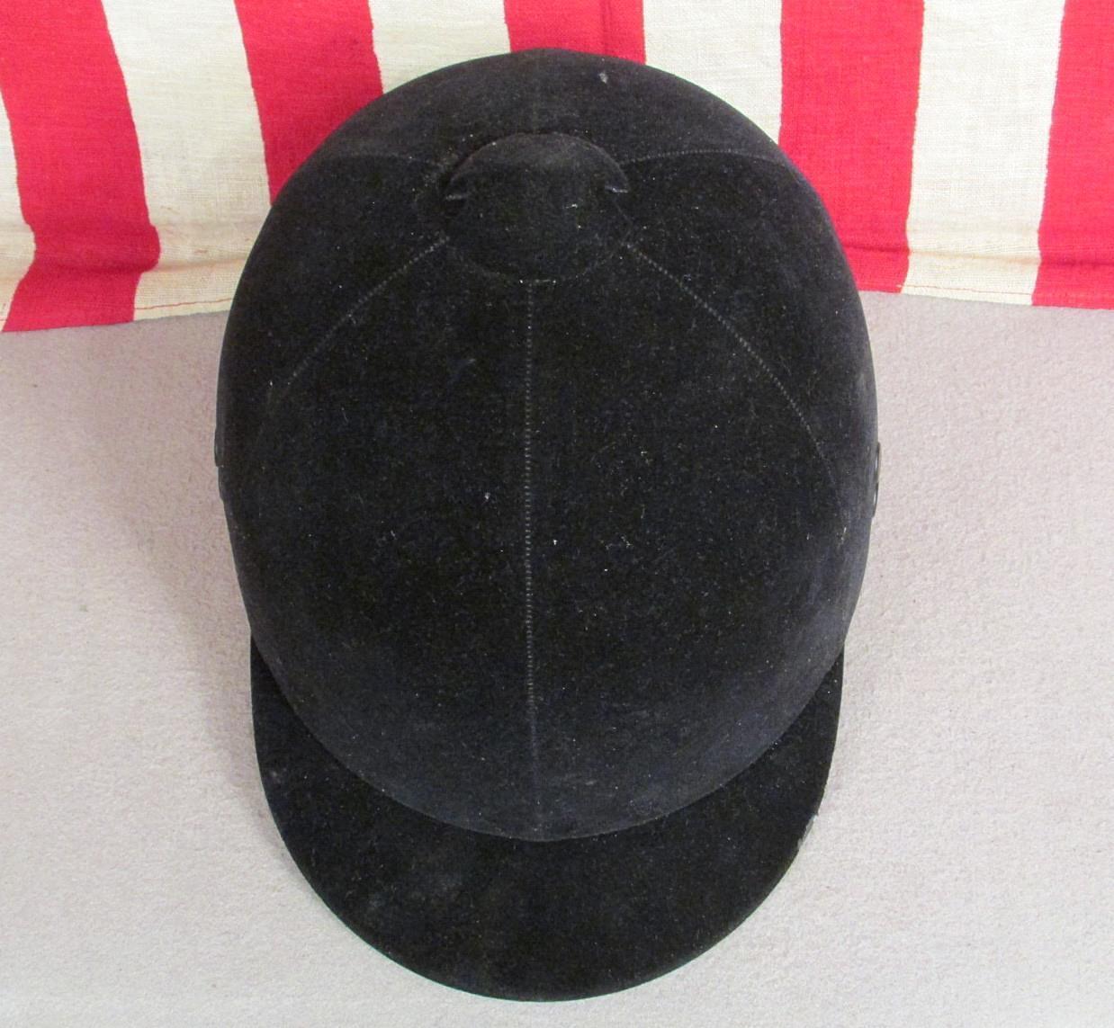 Vintage mundo tapa de terciopelo negro Wendover mundo Vintage ecuestre equitación casco Talla 6 1/2 5d86ef