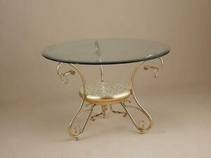Tavolino via veneto ceramica e metallo bagno oro arredo for Veneto arredo
