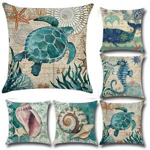 18x18-034-Cushion-Covers-Marine-Ocean-Sea-Life-Animal-Sofa-Pillow-Case-Decorative