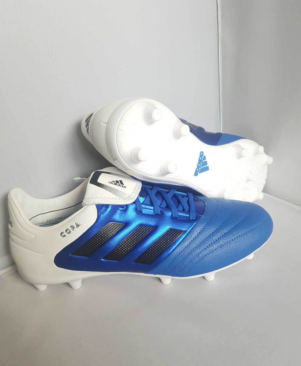 Adidas COPA 17.3 FG 'Touch Of Class' UK 8.5 US 9  Leather Blau Weiß