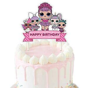 13 CUPCAKE CAKE TOPPER FOOD PICKS SURPRISE DOLLS LOL BIRTHDAY PARTY UNICORN