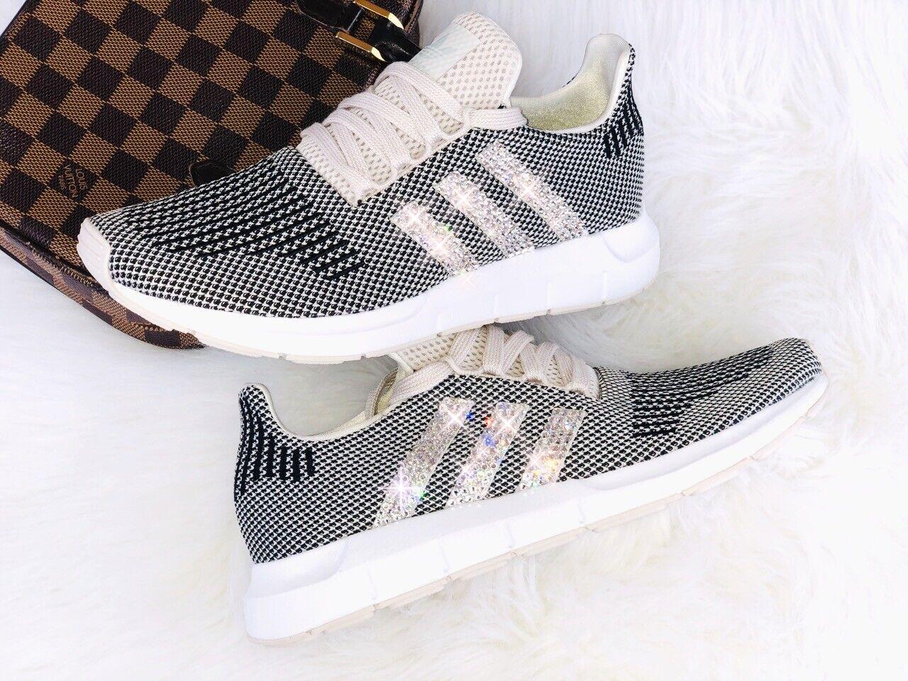 Crystal Adidas Swift Run scarpe da ginnastica lusso con con con SWAROVSKI ELEMENTS Crema Beige 5792b6