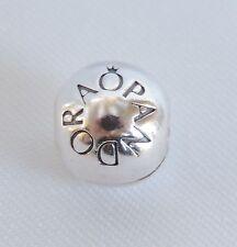 Authentic Pandora Silver Loving Pandora Logo Clip Stopper Charm Bead 791015