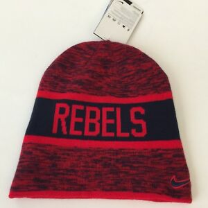 save off 7752c 9bafe Image is loading Nike-Ole-Miss-Rebels-Mens-Hat-Reversible-Beanie-