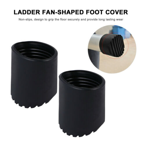 4 Pcs Durable Non Slips Ladder Rubber Feet Mat Step Ladder Foot Cushion Round