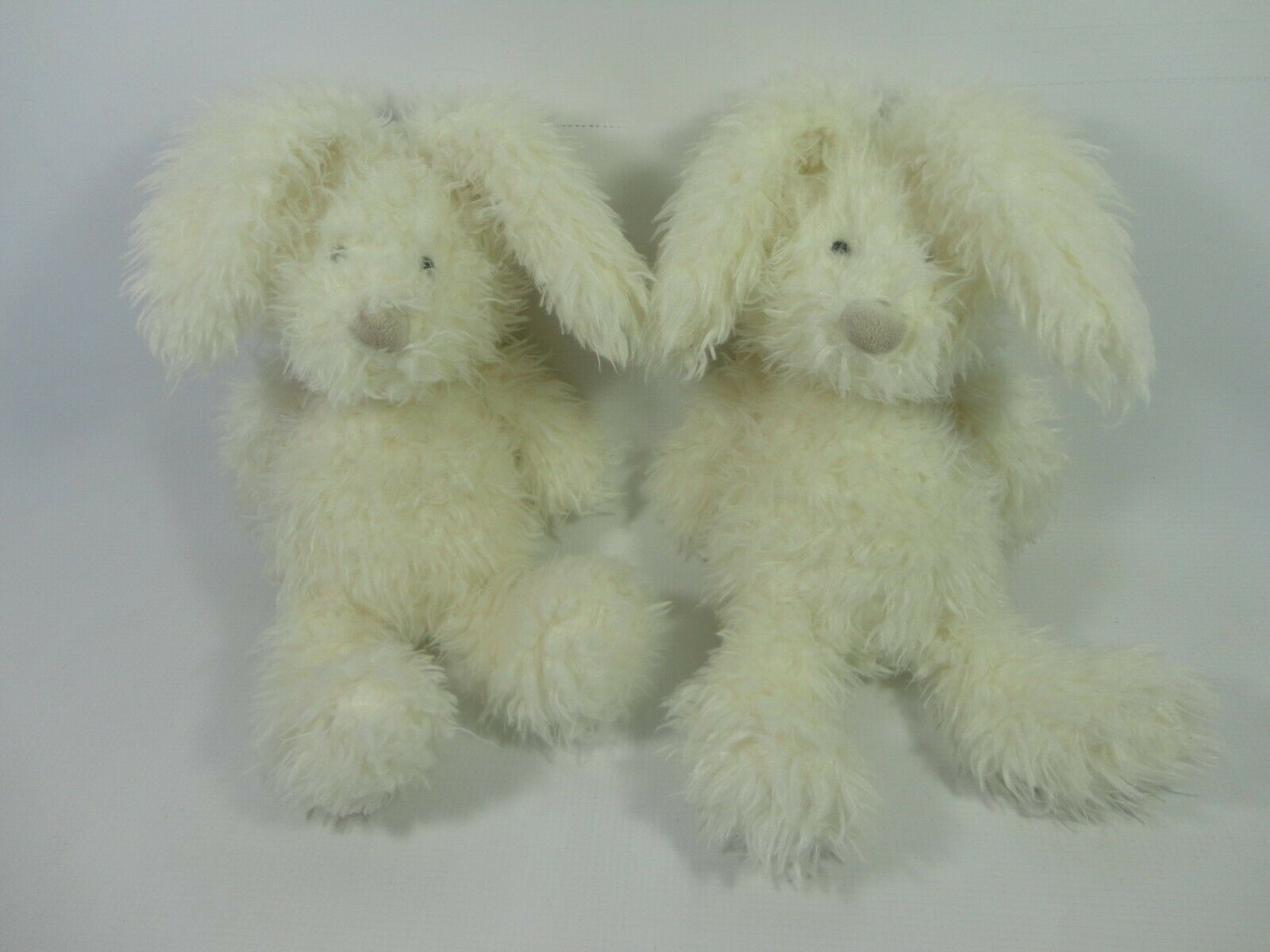 2 x Jellycat Angora Bunny Rabbit White Soft Toy Plush - Easter Jelly Cat RARE