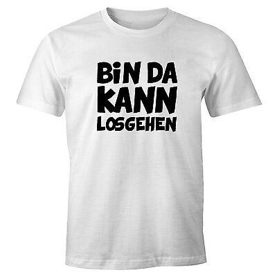 Herren T-Shirt mit Spruch Bin da kann losgehen Fun-Shirt Moonworks®