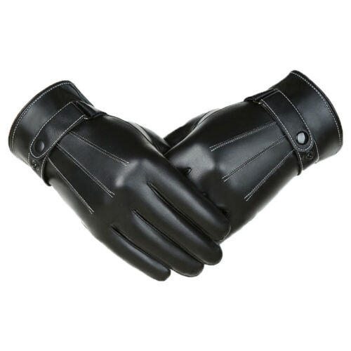 Waterproof Full Finge Leather Gloves Fleece Thermal Driving Gloves Touch Screen