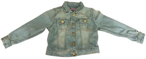 Filles F /& F Délavé Veste en jean Les boutons en métal 5-6,7-8,9-10,10-11 ans /& 11-12