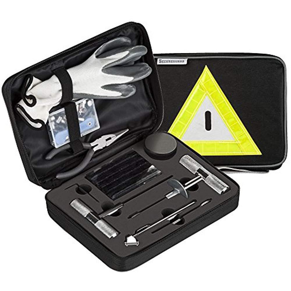 - 66 Pieces Heavy Duty Tire Repair Kit Designed Flat Puncture Premium Tools Are