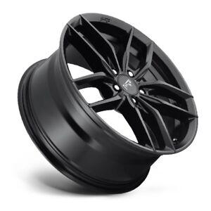 17x8-NICHE-VOSSO-M203-5x120-40-Matte-Black-Rims-New-Set