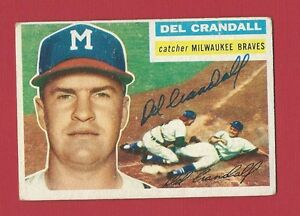 DEL-CRANDALL-MILWAUKEE-BRAVES-Signed-Autographed-1956-Topps-Baseball-Card-175
