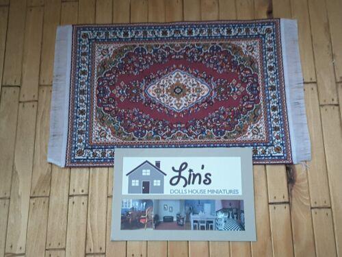 * Maison de poupées miniatures 1//12th bordeaux//rouge turc Tapis 10 x 14cms D698F